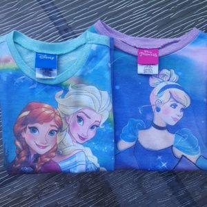 2 Girls Disney shirts 6x NWOT
